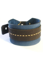 dark gray leather Birdhouse Designs bracelet
