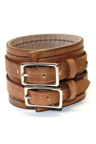 brown leather Birdhouse Designs bracelet