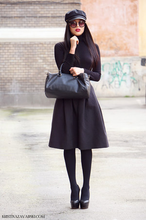 asos hat - Zara bag - H&M skirt