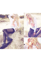 romwe ring - modekungense shoes - wildfox couture sweater - chicnovacom leggings