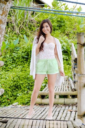 chartreuse WAGW shorts