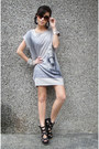 Heather-gray-felicee-dress-silver-sm-accessories-bracelet-black-pedro-heels