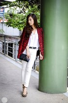 brick red Guess blazer