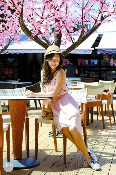 light pink thrift market dress