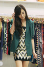 Black-shopwagwcom-dress-dark-green-shopwagwcom-blazer