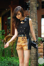 Black-dresstronomy-bag-mustard-second-shop-shorts-black-iheartmatilda-top