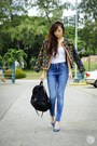 Black-sheinside-jacket-black-shanel-kate-bag