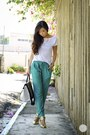 White-tracyeinny-top-aquamarine-tracyeinny-pants