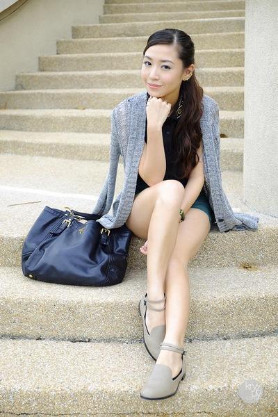 teal WAGW shorts - black WAGW top