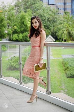 salmon Klarra dress