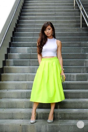 chartreuse Choies skirt