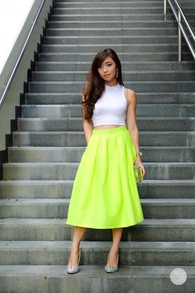 chartreuse Choies skirt