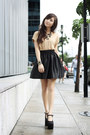 Black-das-heels-black-sheinside-skirt-gold-diddco-top