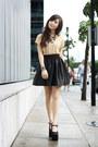 Black-das-heels-black-sheinside-skirt-gold-diddco-top