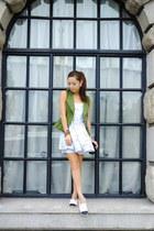 black Chanel shoes - dark green asos vest