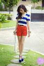 White-aigner-bag-red-trunkshow-shorts-blue-posh-wardrobe-top