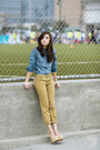 Tan-levis-jeans-blue-levis-top-eggshell-sheinside-heels
