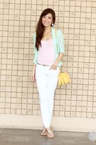 aquamarine windsor blazer - white island girl sandals