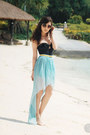 Black-h-m-swimwear-sky-blue-love-skirt