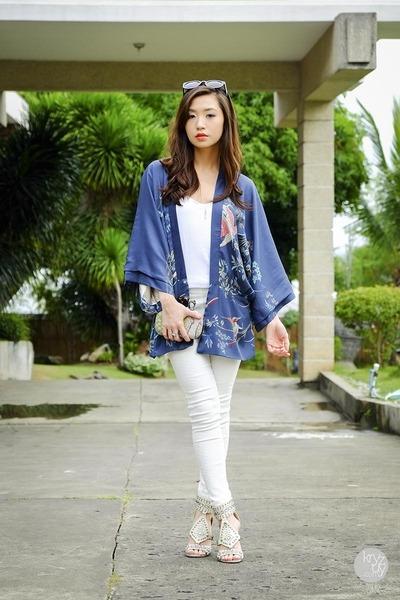 blue romwe cardigan