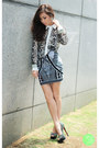 Charcoal-gray-romwe-top-black-bqueen-skirt-black-sheinside-heels