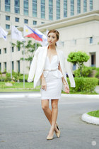 white Concrete Runway dress