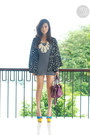 Black-wagw-dress-purple-coach-bag-black-h-m-top-yellow-paris-dreams-heels