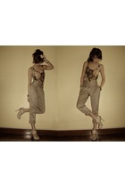 brown RAF pants - brown What A Girl Wants top - beige michael antonio shoes