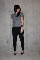 Forever XXI sweater - Zara pants - Aldo heels