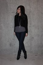 Aldo boots - Zara jeans - H&M sweater
