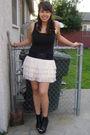 Black-rue-21-shoes-beige-rue-21-skirt-black-forever-21-shirt