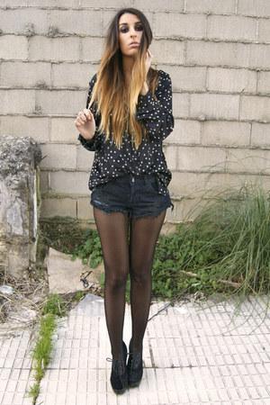 black One Teaspoon shorts - black Fox House shoes