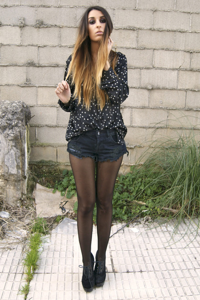 black One Teaspoon shorts - black Fox House shoes