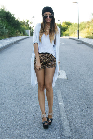 brown leopard romwe shorts - black bruners Report Signature shoes