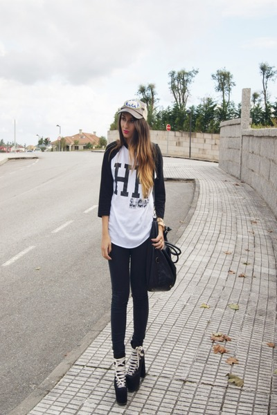 black UNIF shoes - black High Heels Suicide shirt