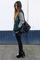 dark green man Zara jacket - black Fox House shoes