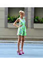 Silver-floral-print-topshop-dress-lime-green-h-m-accessories