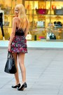 Floral-print-zara-dress-black-leather-prada-bag-black-leather-zara-flats