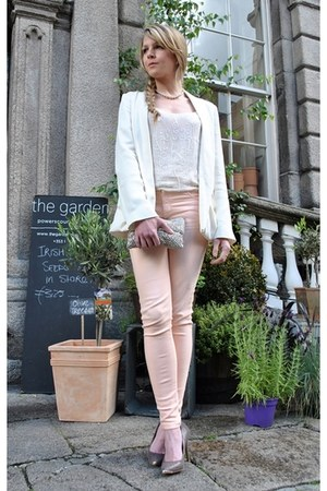 camel new look shoes - peach Victoria Beckha jeans