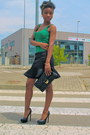 Black-river-island-bag-green-bershka-top-black-new-look-skirt