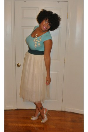 cream tulle unknown brand skirt - aquamarine Luichiny shoes