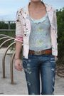 Blue-nobody-jeans-white-sportsgirl-shoes-blue-finders-keepers-top-pink-jac