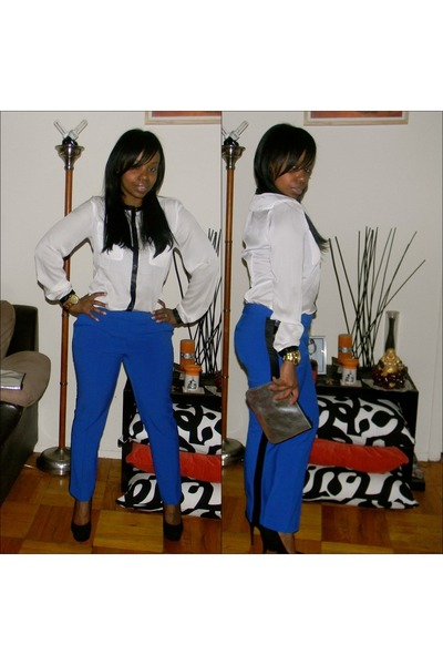 ny & co pants - H&M bag - Steve Madden pumps - H&M Trend blouse