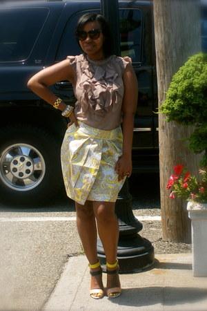 random brand blouse - H&M skirt - Zara heels