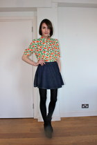 whistles blouse - Hobbs boots - American Apparel skirt
