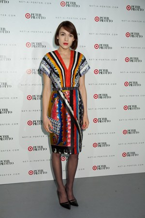 Peter Pilotto dress - Wilbur & Gussie bag - Kurt Geiger heels
