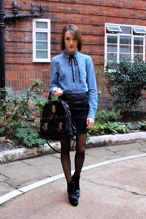 Mulberry bag - Hobbs boots - whistles shirt - Urban Outfitters skirt