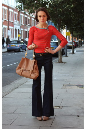 Topshop jeans - Marc Jacobs sweater - SANDRO bag - Aldo heels