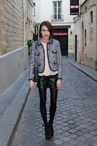 Topshop shorts - whistles jacket - whistles bag - whistles blouse