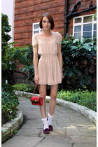 H&M dress - Oliver Bonas bag - Topshop socks - Bertie loafers
